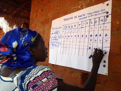 Diagnostique participatif des problèmes de santé d'un village au Katanga.