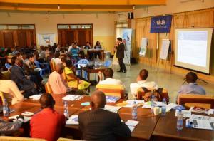Sebastien Longueville, Directeur du Consortium WASH RDC présente les résultats atteints par le programme du Consortium WASH RDC